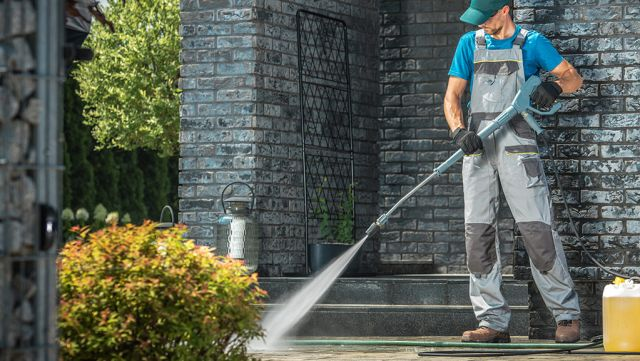 Pressure Washing exterior of Home