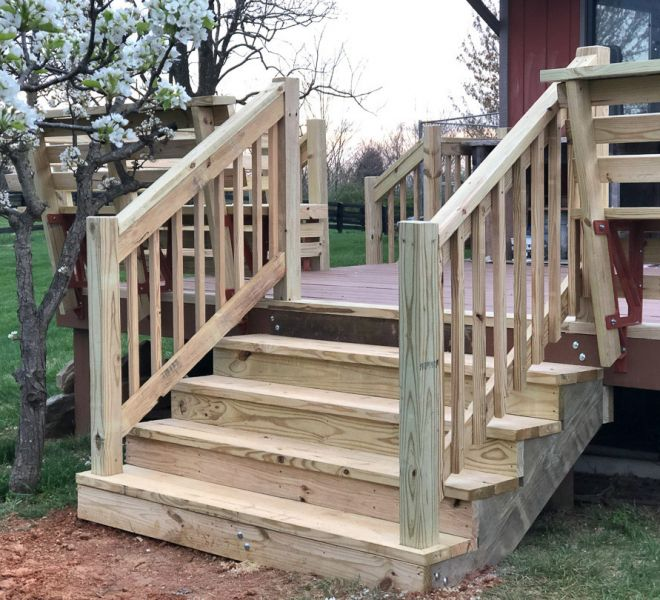 Completed Deck Renovation, New Stairs