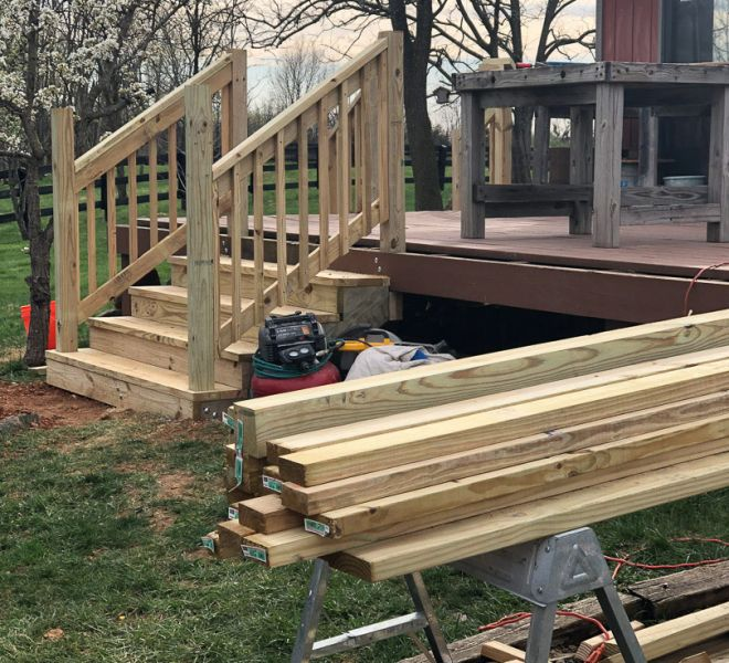 Deck project progress
