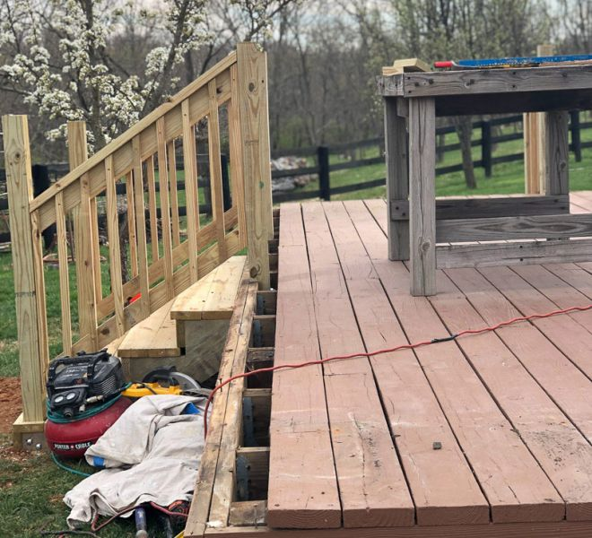 Deck project in process