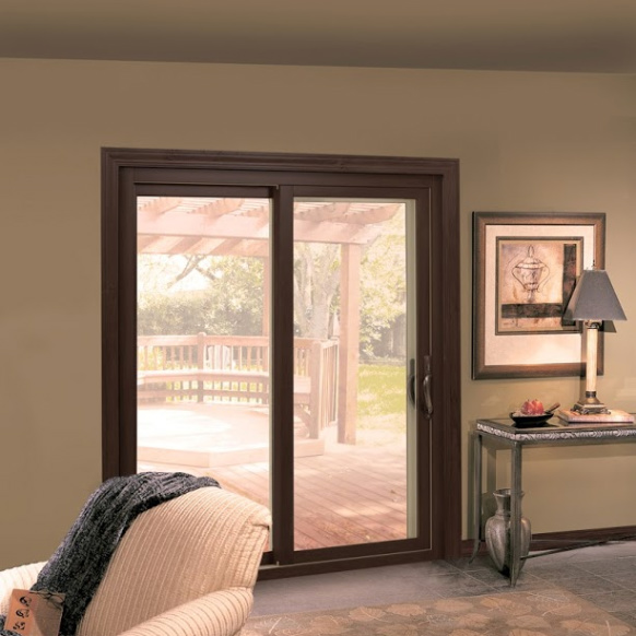 Interior image of sliding patio door