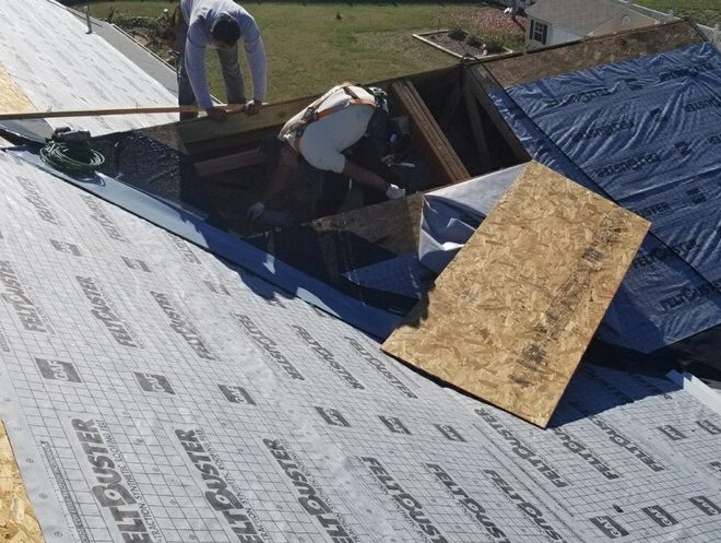 New Roof installation in process in Bealeton, VA 22712 Fauquier County