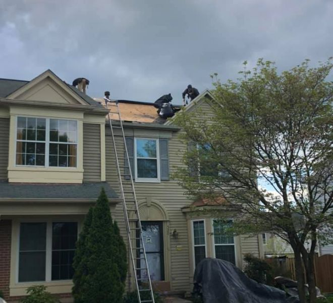 Full Roof Replacement in Progress Owens Corning Leesburg, VA