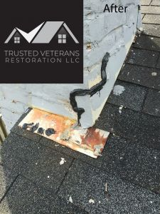 Fixed chimney leak - Trusted Veterans Restoration, VA