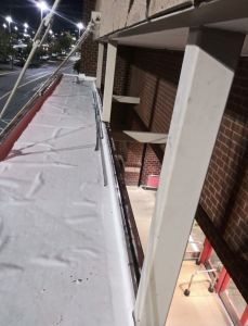 New TPO treatment of a commercial store's overhang - Trusted Veterans Restoration, VA