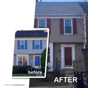 Storm damaged roof before and after in Woodbridge, VA - Trusted Veterans Restoration