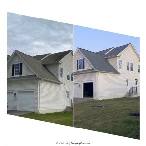 Roofing jov covered by insurance, before and after - Trusted Veterans Restoration
